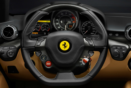 Ferrari F12berlinetta interior volante
